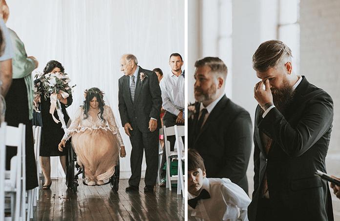 Sparaliżowana od lat panna młoda zszokowała gości weselnych tym co zrobiła!