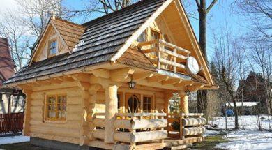 drewniany domek 0