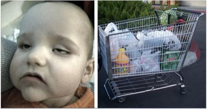 Mama posadziła swojego synka w sklepowym wózku. Następnego dnia miał 40 stopni gorączki
