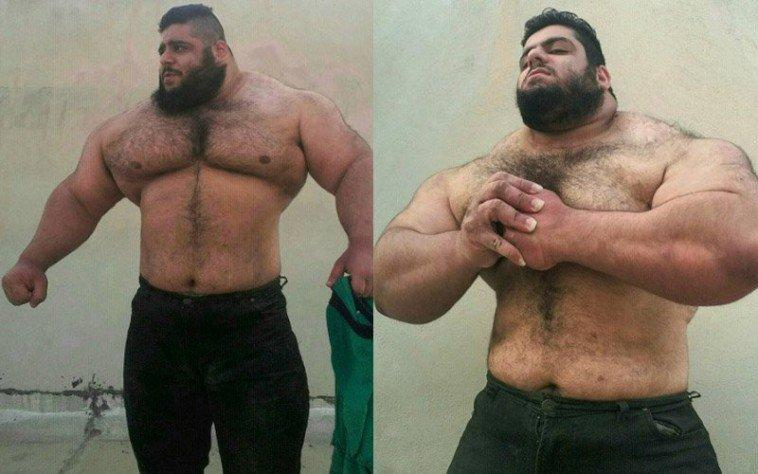 Poznajcie irańskiego Herkulesa: ciężarowiec bez szyi, ale za to ze złotym sercem