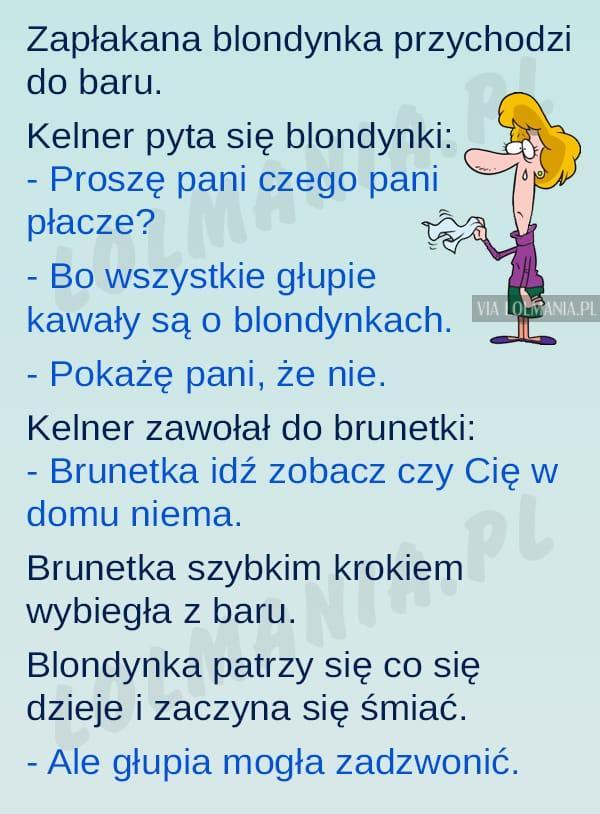 Problemy blondynki…