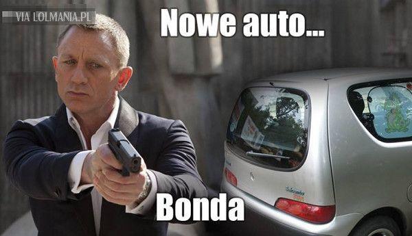 Nowe auto Bonda