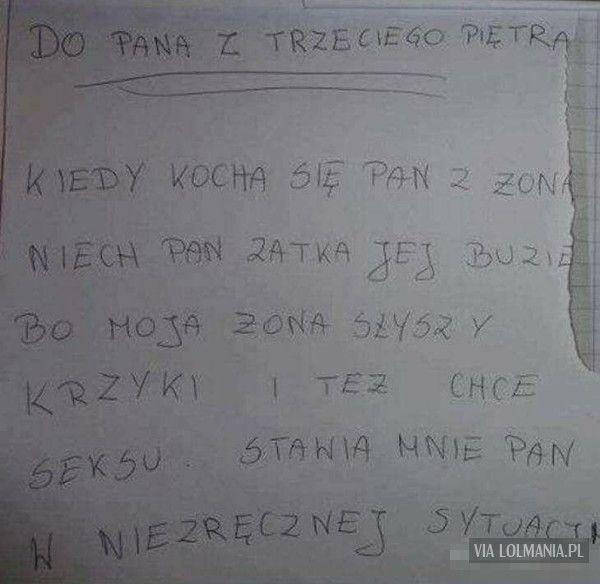 List do sąsiada
