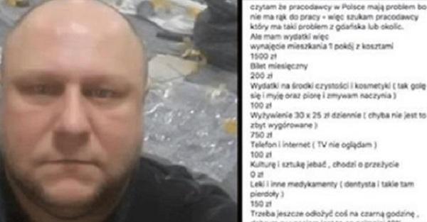 Policzył ile najmniej powinien zarabiać człowiek mieszkający w Polsce. Wywołał niemałą burzę w sieci.