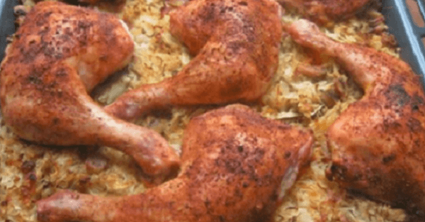 Pieczony kurczak na kwaśnej kapuście. Nasz rodzinny przepis od naszej babci. Nie jadłaś nigdy tak dobrego.