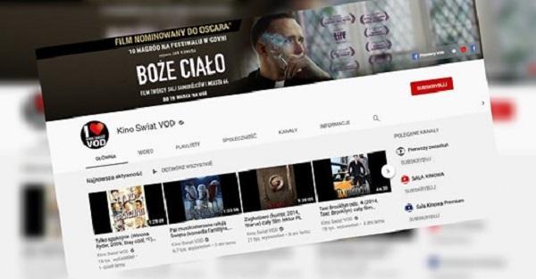 Kinowy dystrybutor udostępnia swoje zasoby. Filmy i seriale za darmo na YouTube.