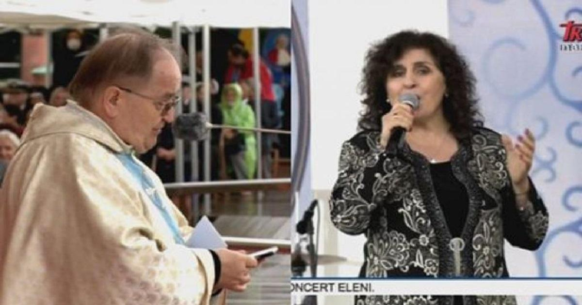 Eleni wyszła na scenę przy Tadeuszu Rydzyku. Działo się na Jasnej Górze…
