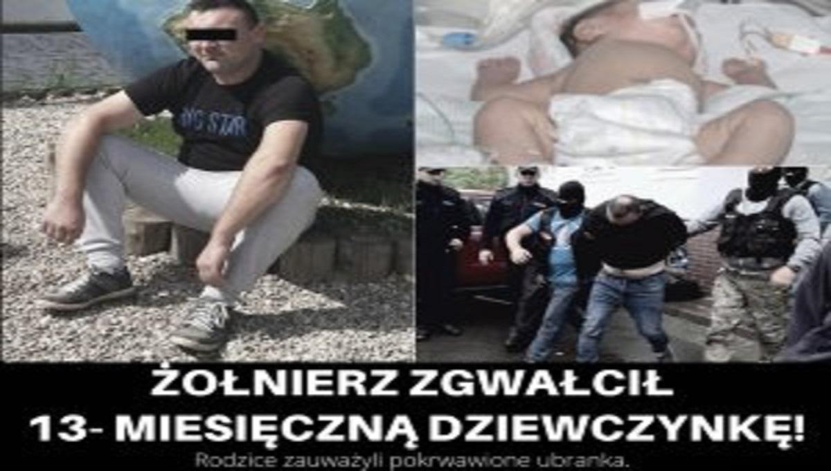 Żołnierz dopuścił się bestialskiego gwałtu na trzynastomiesięcznej dziewczynce!