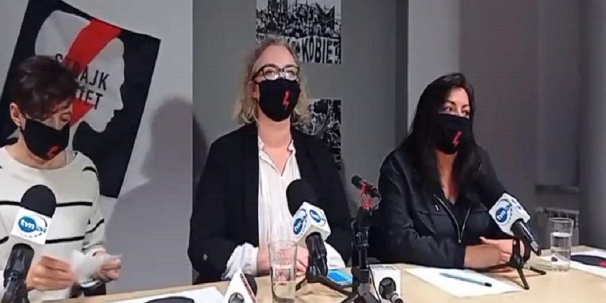Ekipa TVP została wyrzucona z konferencji. Padły wulgarne słowa, Strajk Kobiet się nie patyczkował