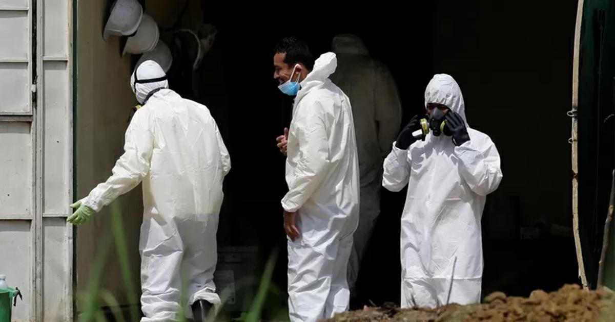 Makabryczne odkrycie na posesji policjanta. Odkopali zwłoki 8 osób.