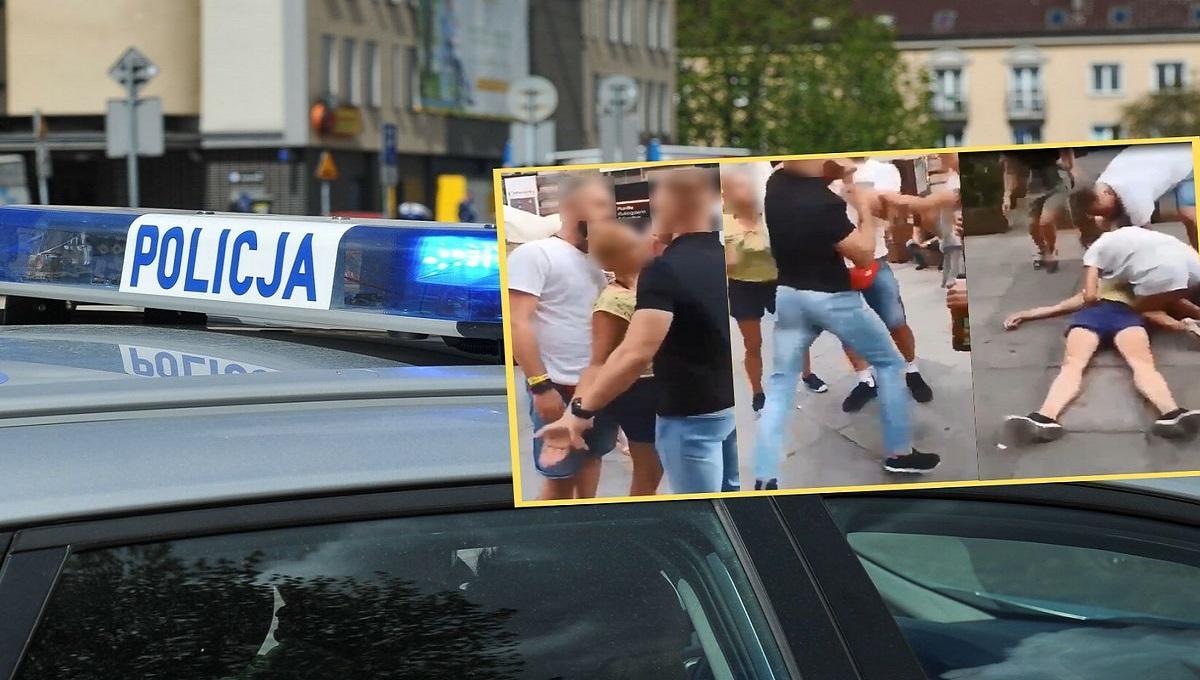 Skatował kobietę na ulicy. Był z kolegami.