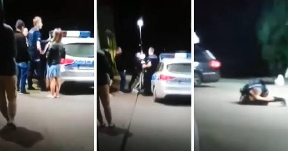 """""""Nagrywaj, nagrywaj!"""". Dantejskie sceny na Orlenie w Zakopanem. Policjant bił się z kobietą."""