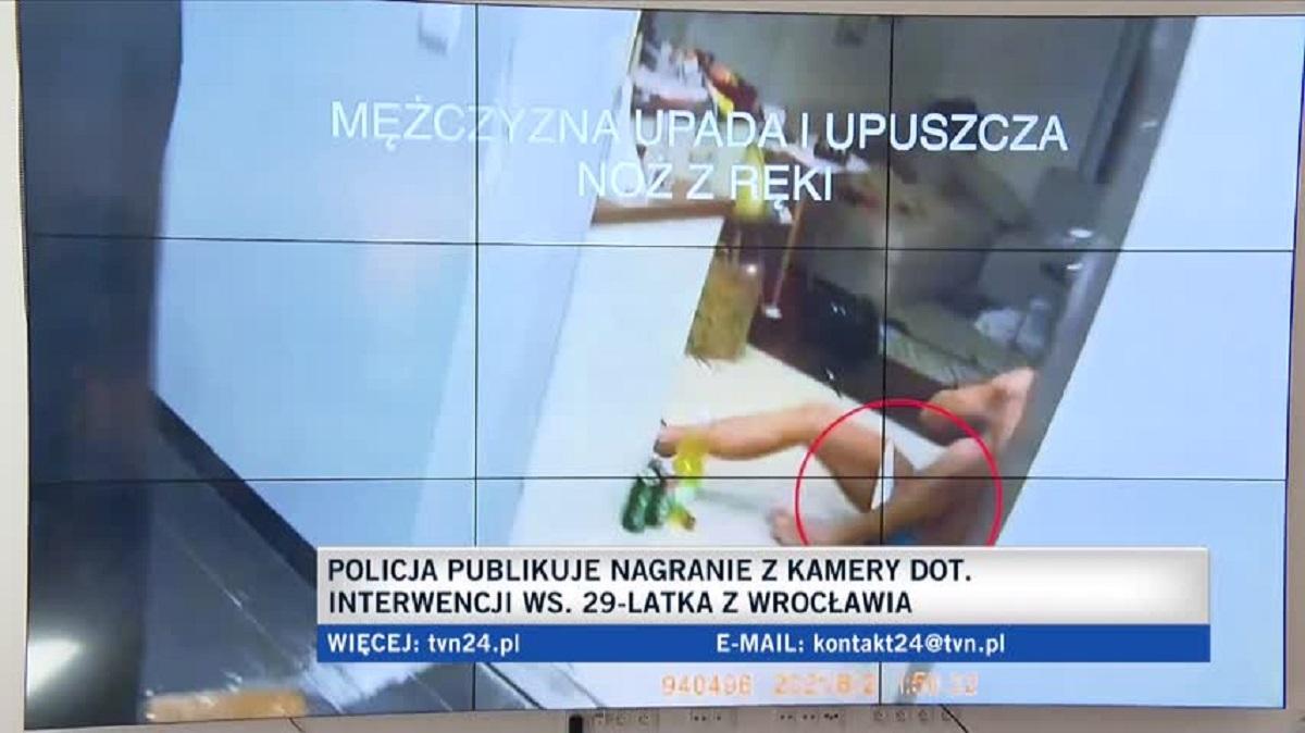 Śmierć 29-latka z Wrocławia. Policja opublikowała nagranie z kamery funkcjonariusza!