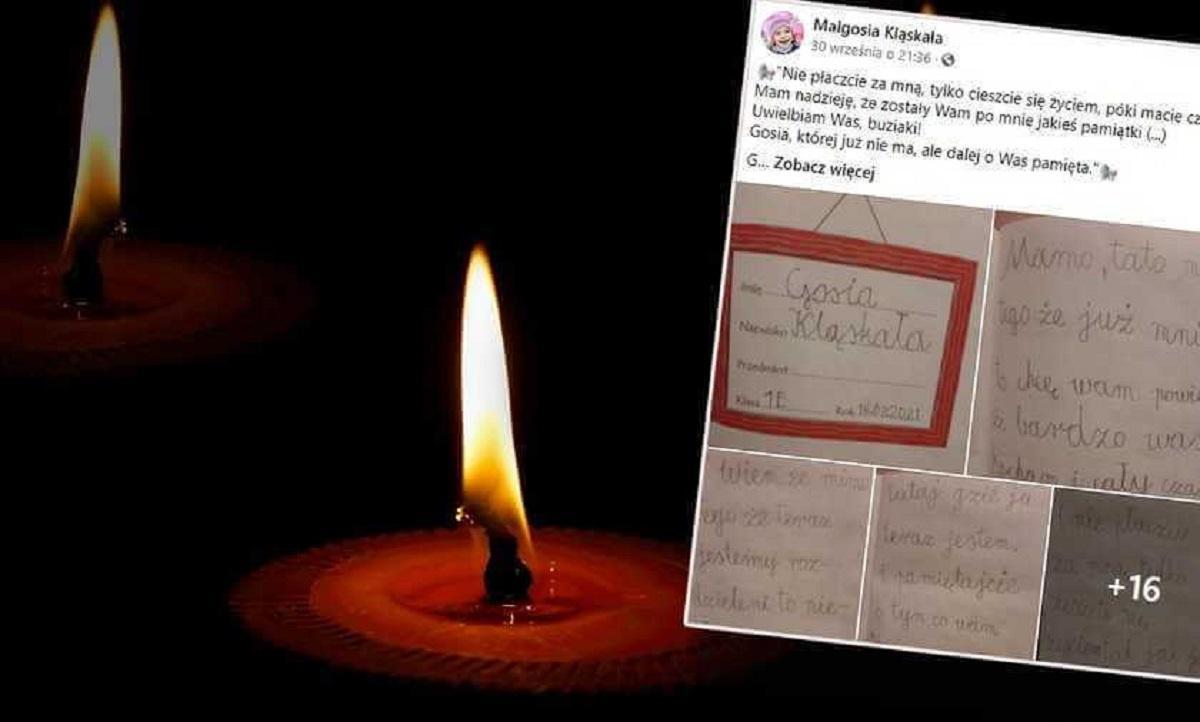 Ośmioletnia Małgosia napisała pożegnalny list do rodziców. Jej ostatnie słowa łapią za serce.