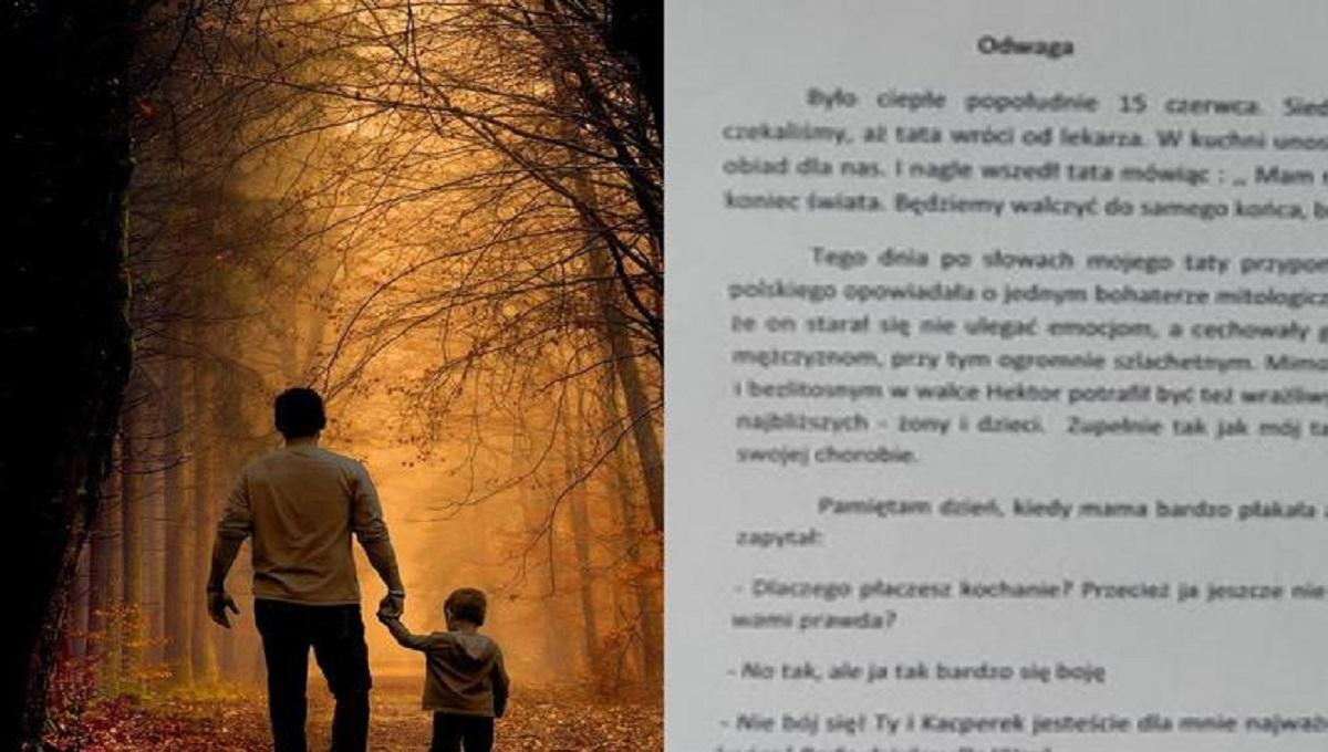 Praca domowa 13-letniego Kacpra wyciska łzy. Tak opisał swojego tragicznie zmarłego ojca.